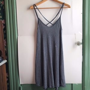 NEW LA HEARTS Navy Blue White Striped Tank Dress